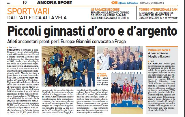 17-10-2013 Il resto del carlino Ancona A1